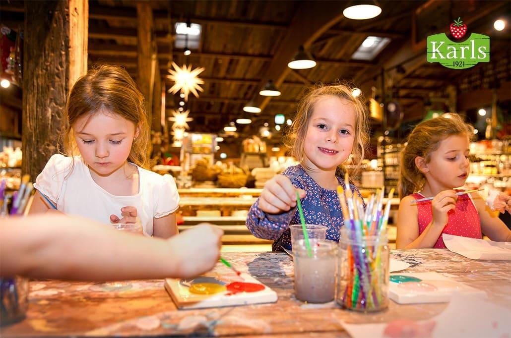 In der Kreativwerkstatt im Karls Erlebnis-Dorf können Kinder ihrer Kreativität freien Lauf lassen